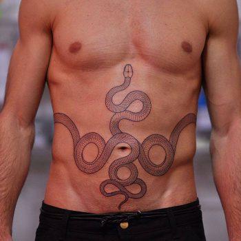 Snake tattoo by mirko sata