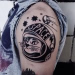 Space kitten tattoo
