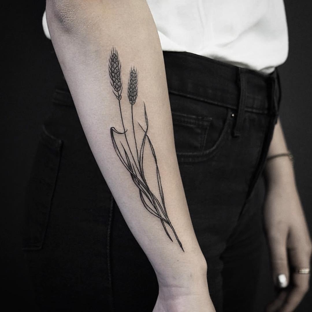 Straws of wheat tattoo