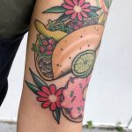 Taco and doughnut tattoo