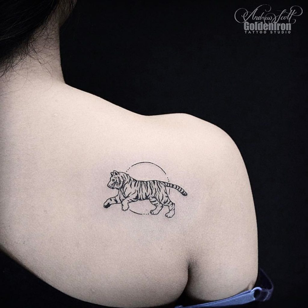Tiger tattoo by andrew szkotti
