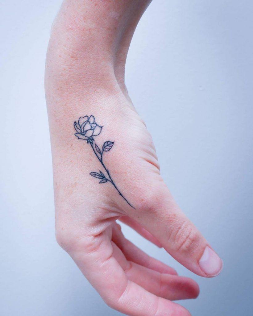 Tiny hand rose