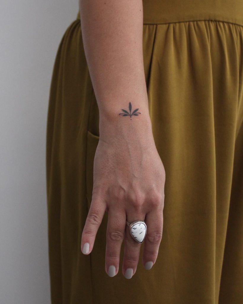Tiny lotus flower on the wrist