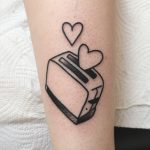 Toaster love tattoo