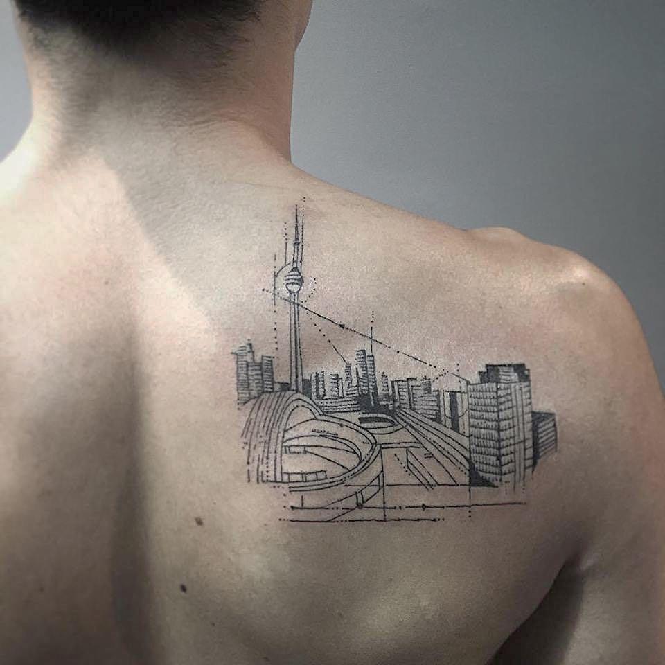 Toronto cityscape tattoo