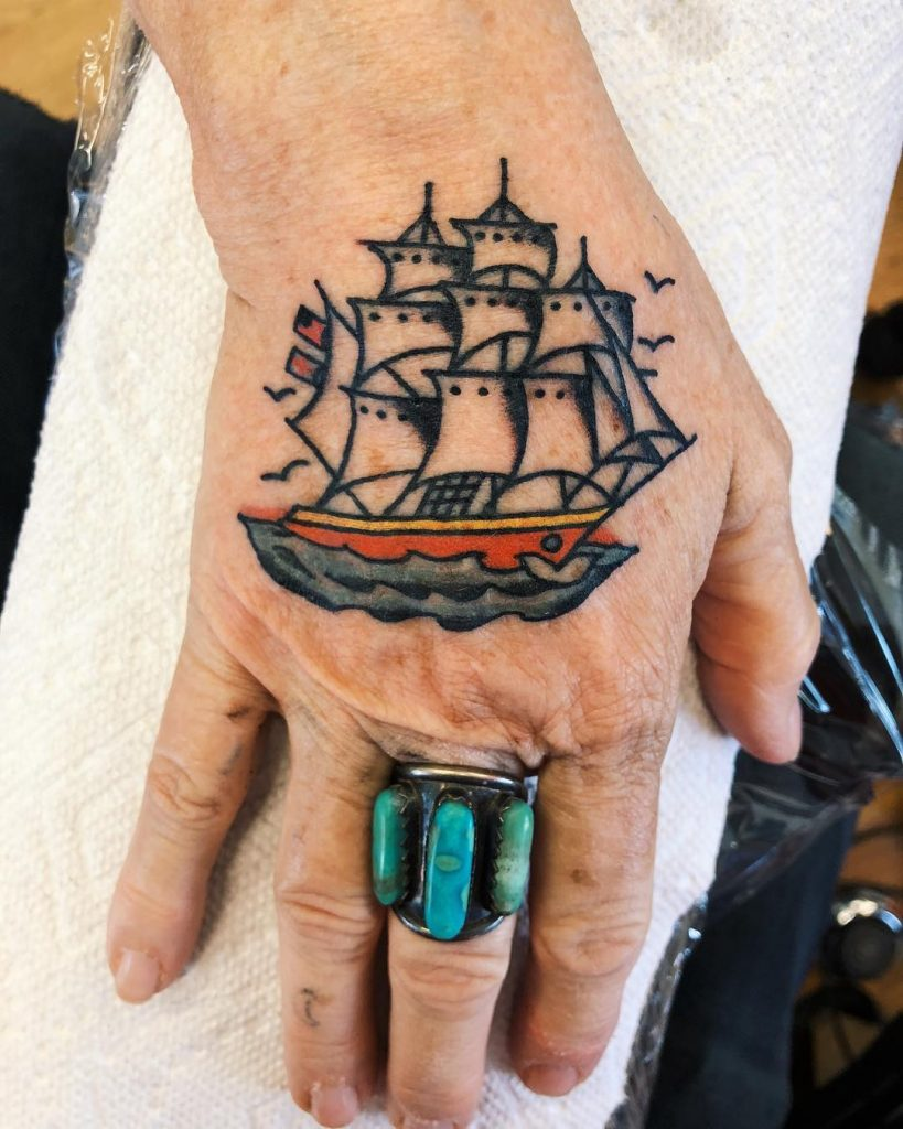 Traditional barque tattoo