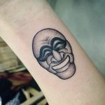 Traditional korean mask tattoo