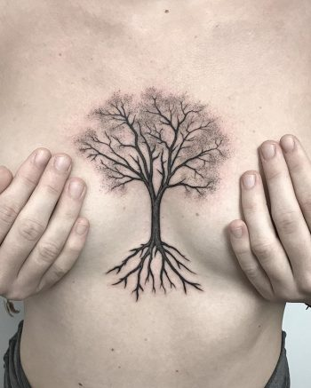 Tree with roots tattoo
