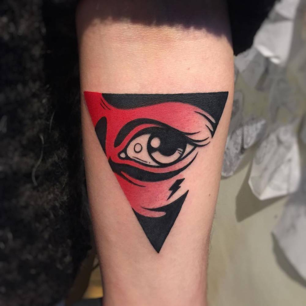 Triangle eye tattoo by gennaro varriale