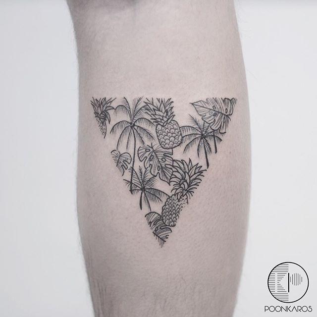 Tropical triangle tattoo