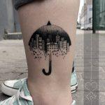 Umbrella city tattoo