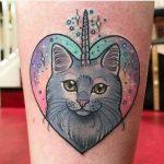 Unicat tattoo