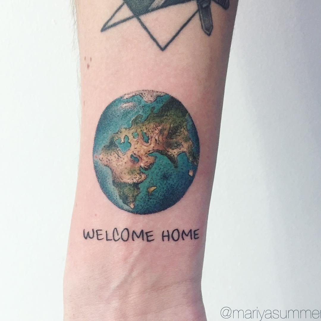 Welcome home tattoo