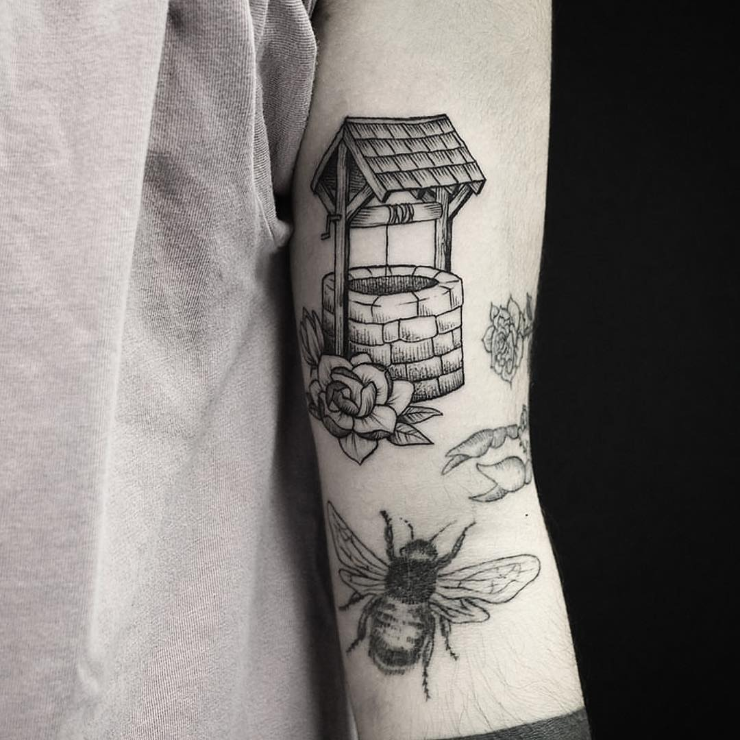 Wishing well tattoo
