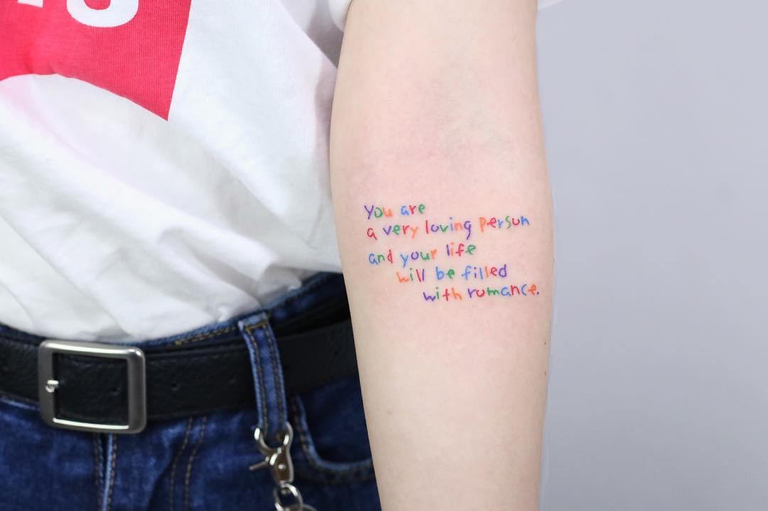 You are a very loving person tattoo