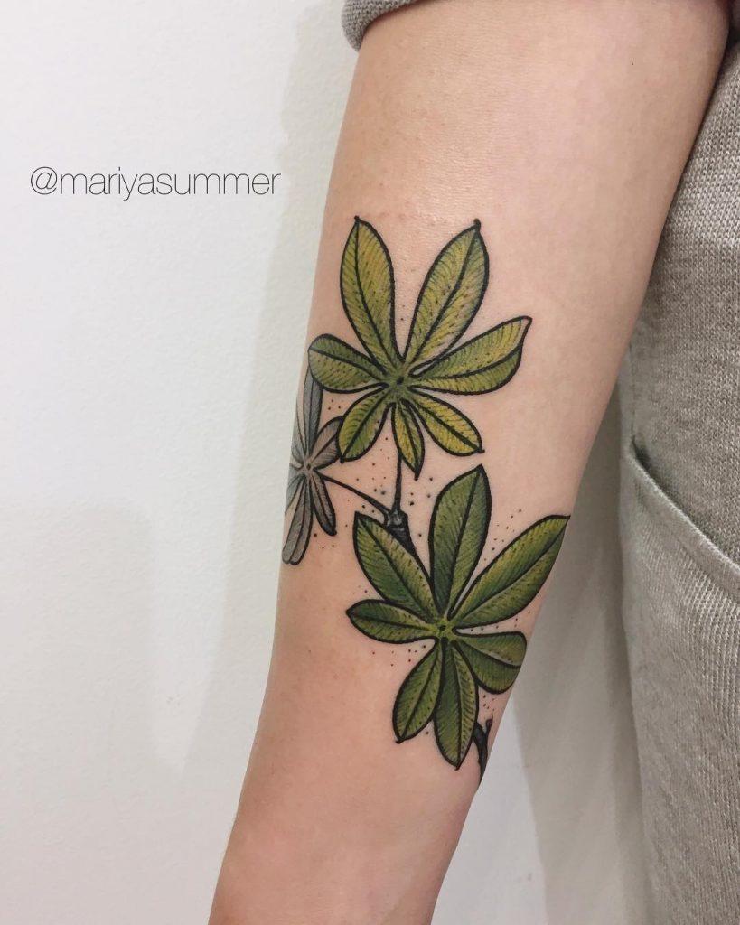 Chestnut leaf tattoo