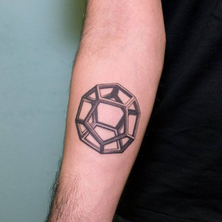 3d dodecahedron tattoo