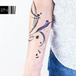 Abstract composition tattoo