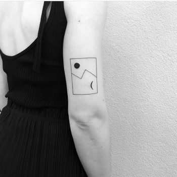Abstract day and night tattoo