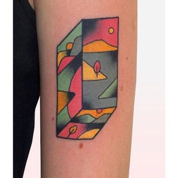 Abstract landscape by brindi tattoo