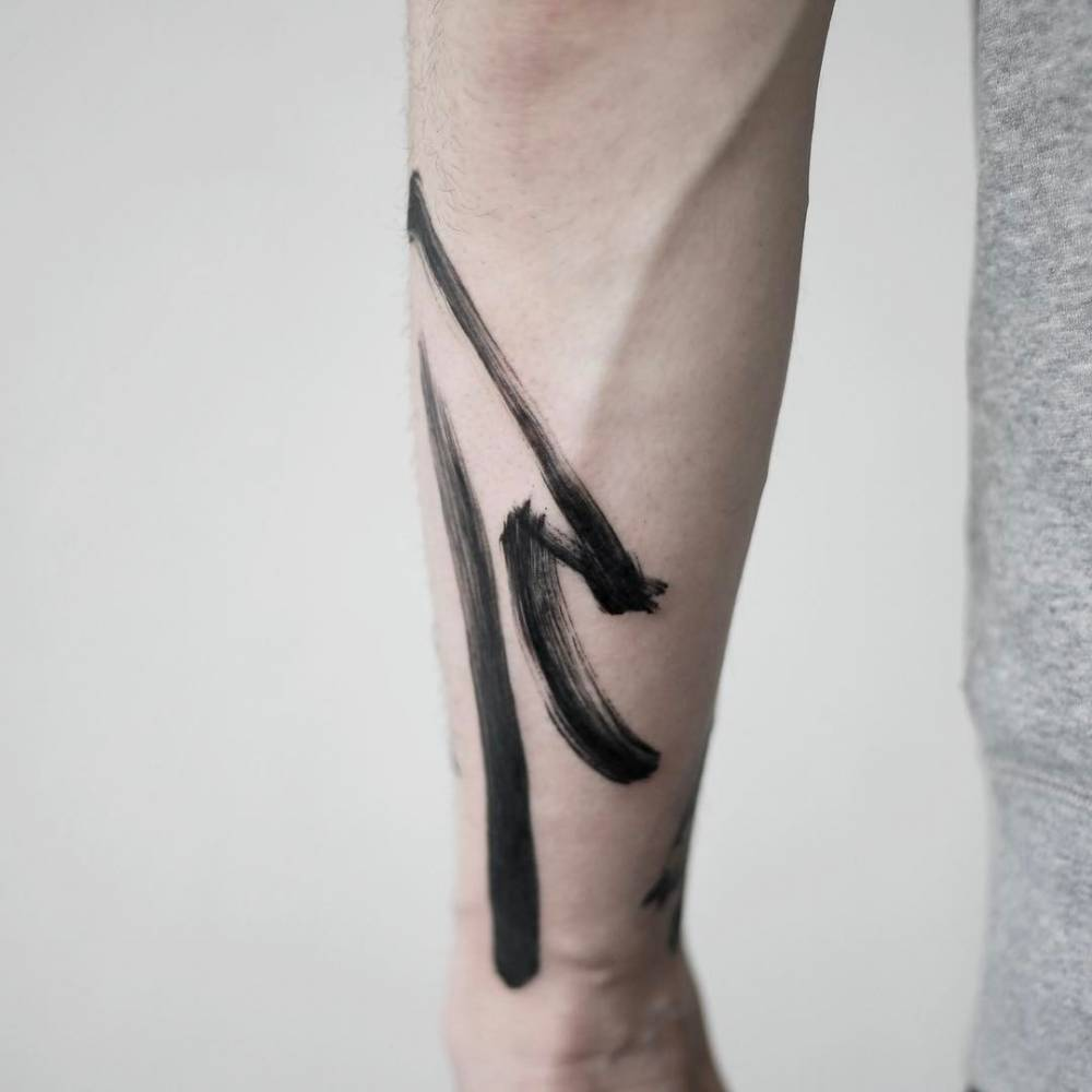 Abstract tattoo by doy done in seoul