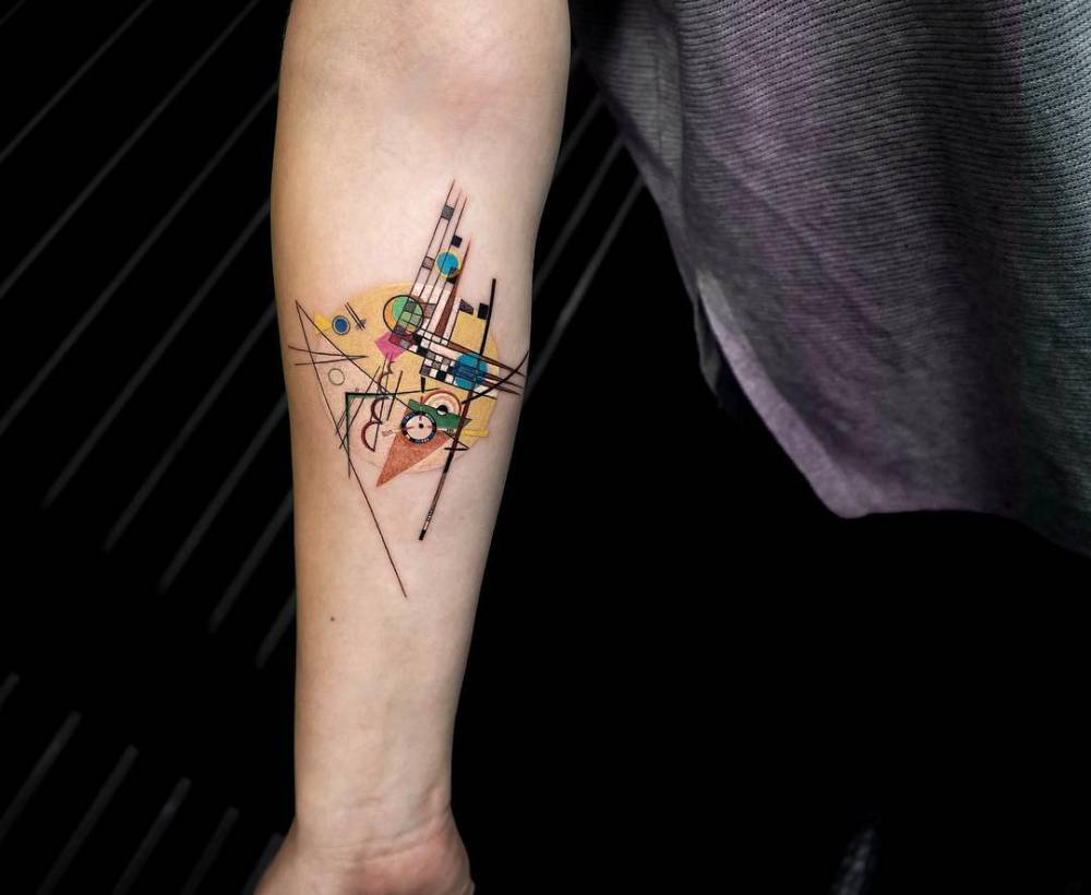Abstract tattoo by eva krbdk