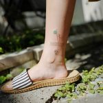Abstract tattoo on the ankle