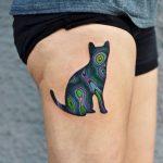 Acid cat tattoo