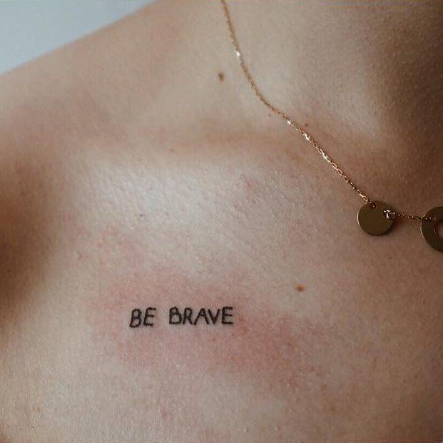 Be brave tattoo by patmysz kraków