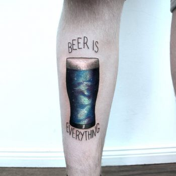 Beer is everything tattoo