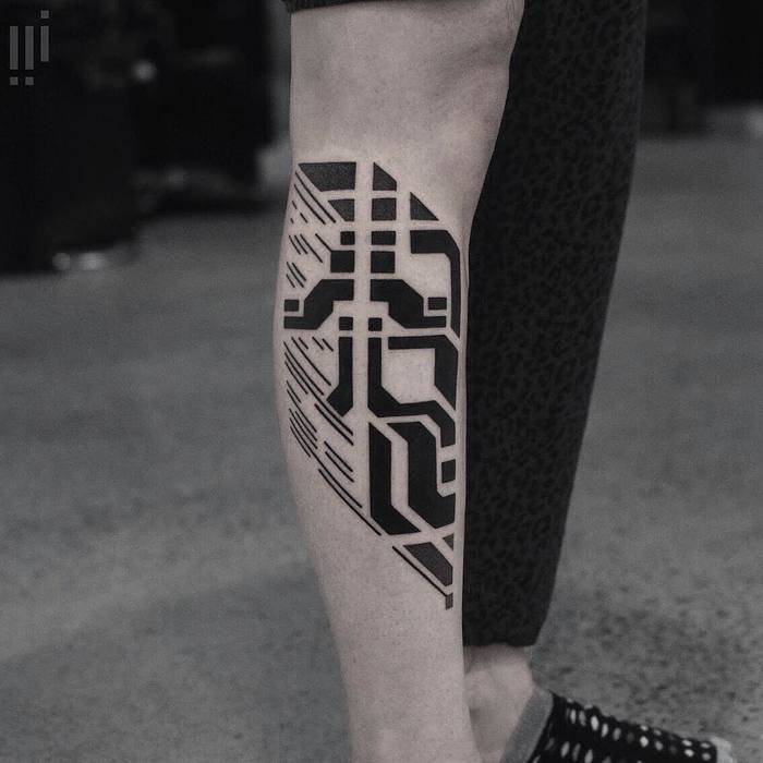Black geometric piece by georgie williams