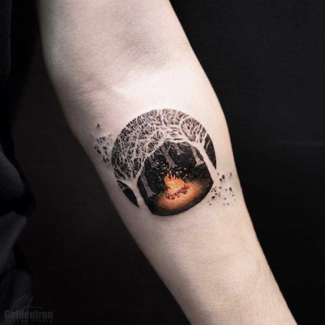 Bonfire tattoo by calvin