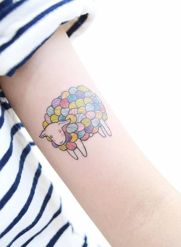 Bubble sheep tattoo