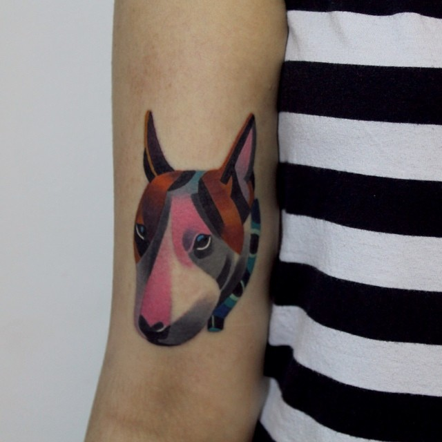Bullterrier tattoo by sasha unisex