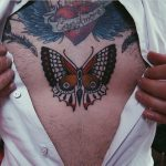 Butterfly tattoo by rich hadley