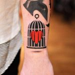 Caged heart tattoo by david côté