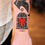 Caged heart tattoo by david côté