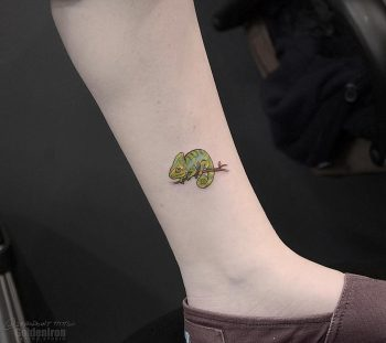 Chameleon tattoo by andrew