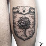 Coat of arms tattoo done @ atomik tattoo