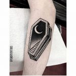 Coffin staircase tattoo