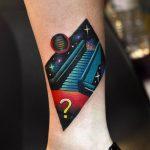 Cosmic stairway tattoo