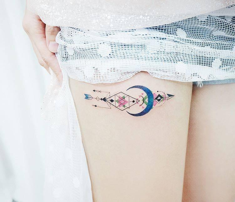 Custom arrow tattoo by tattoist banul