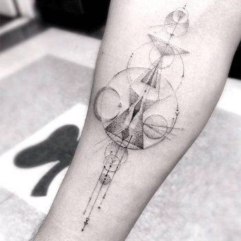 Custom geometric tattoo