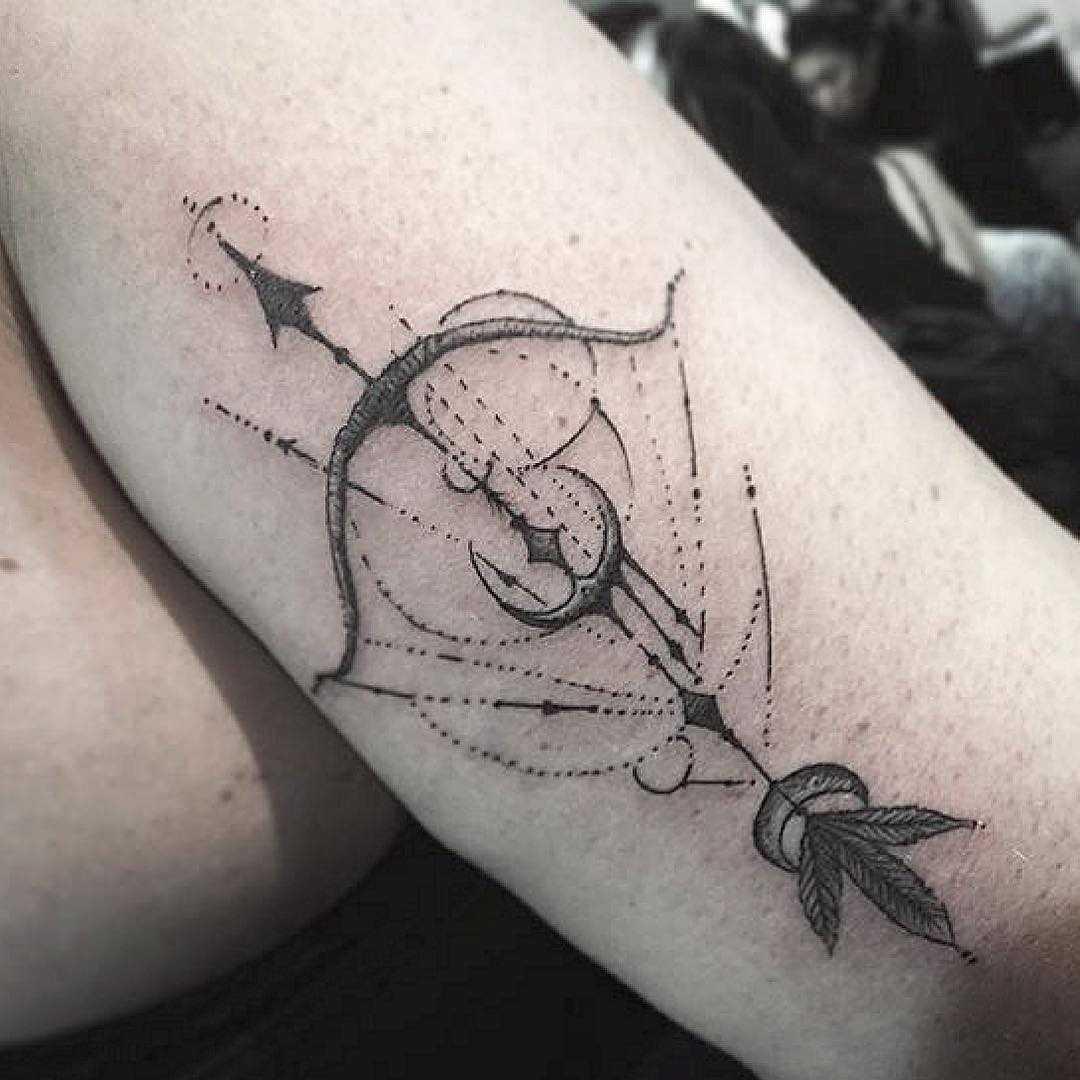 Custom sagittarius tattoo by unkle gregory