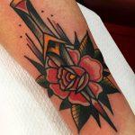 Dagger and rose by jeroen van dijk