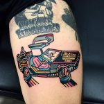 Delorean dmc 12 tattoo by raro