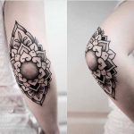 Elbow mandala tattoo by jonas ribeiro