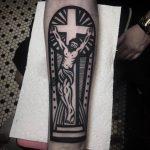Ex libris style jesus christ tattoo