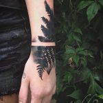 Fern leaf tattoo by tedd hucks