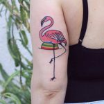 Flamingo tattoo by patryk hilton done